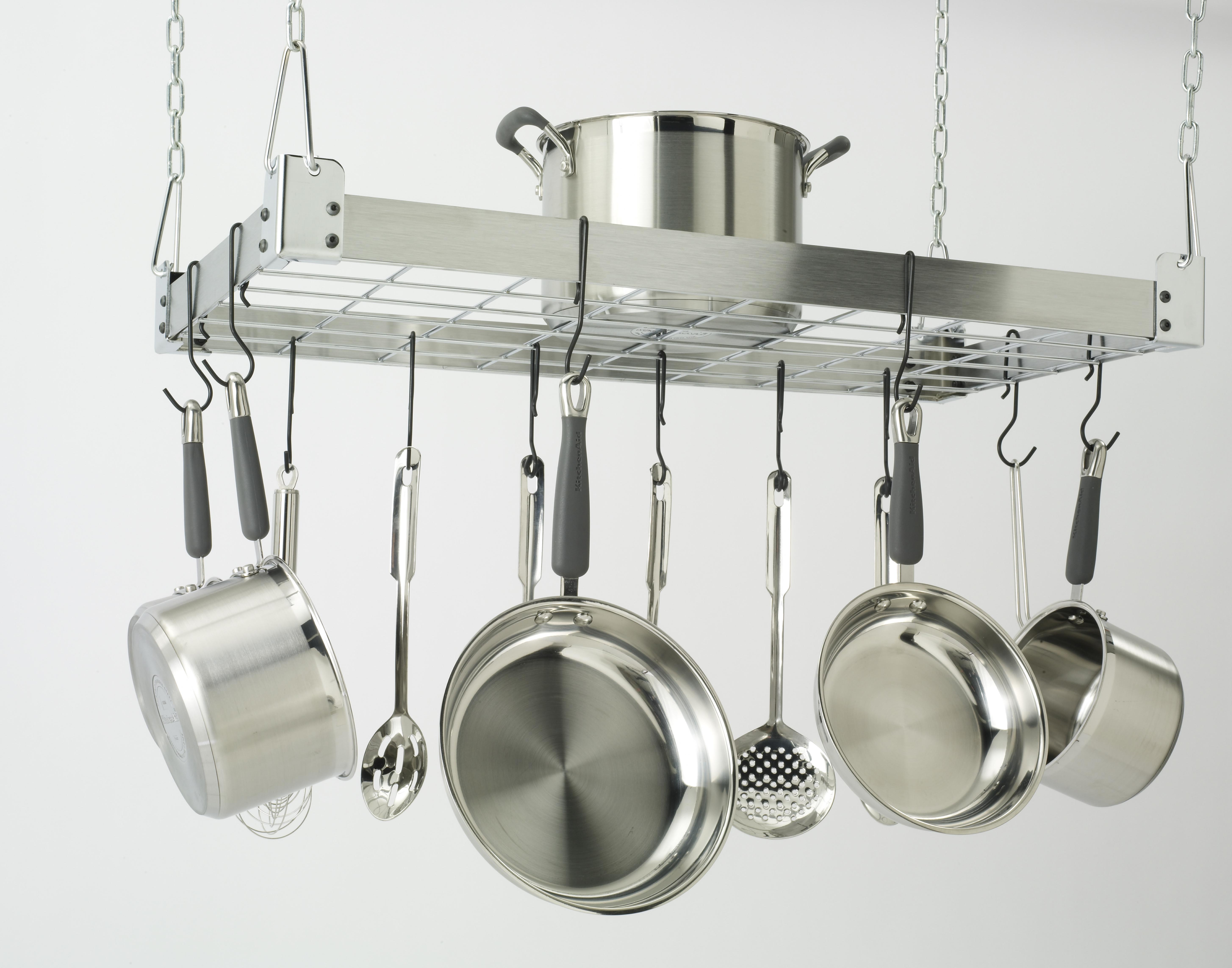 Stainless Steel Designer Kitchen Pot Rack by Jay Rinaldo